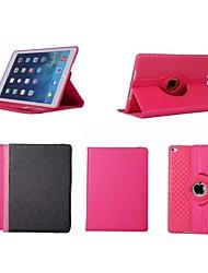 Rotation de 360 degrés 9,7 pouces motif de couleur solide avec boîtier de support pour iPad air 2 / ipad (6 couleurs assorties)