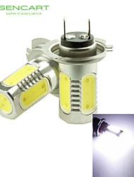 H7 PX26D 10W 900Lm 5 x COB LED Cold White Light Polarity Free Car Foglight / Headlamp / Tail Light (12-24V)