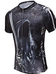 Cycling Jersey Men's Short Sleeve Bike Breathable / Quick Dry / Compression T-shirt / Tops 100% Polyester / Terylene / Mesh Fashion / Slim