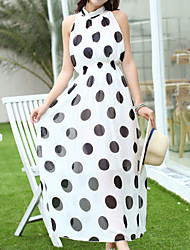 Women's  Dot Hang Neck Dress
