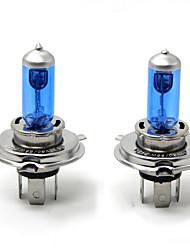 TIROL 2pcs Auto Headlight Bulbs Headlamp Bulbs Halogen H4 12V 60/55W Super White 5000K