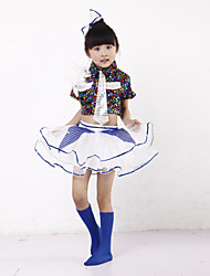 Jazz Performance Outfits Children's Performance/Training Polyester Sequins Outfit Multi-color Kids Dance Costumes