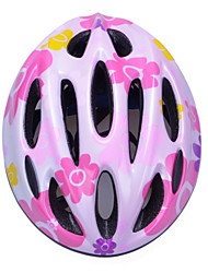 Fashion Comfortable+Safety EPS 10 Vents Kids' Integrally-molded Cycling Helmet - Rose Red + Silver + Yellow