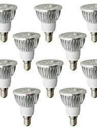 6W E14 Spot LED 4 LED Haute Puissance 530-580 lm Blanc Chaud AC 100-240 V 10 pièces