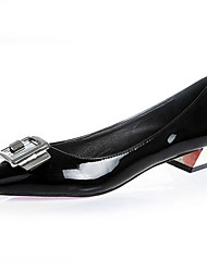 Women's Shoes Leather/Patent Leather Flat Heel Pointed Toe/Closed Toe Loafers Casual Black/Red/Gray