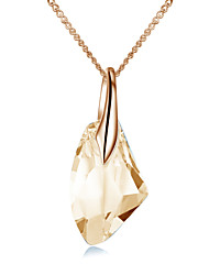 Necklace Pendant Necklaces Jewelry Wedding / Party / Daily / Casual Crystal / Alloy / Cubic Zirconia Gold 1pc Gift