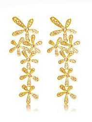 Drop Earrings Cubic Zirconia Rhinestone Alloy Fashion Luxury Jewelry Screen Color Jewelry 2pcs