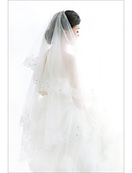 New Style White 1T Cathedral Trailing Lace Bridal Dress Accessories Veil
