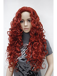 "New Fashion Charming 26"" Dark Red Long Curly Synthetic Women's Wig"
