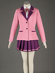 Cosplay Sakura Outside High School Long Sleeve Pink Skirt