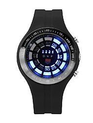 Hombre Reloj Deportivo Digital LED PU Banda Negro Negro