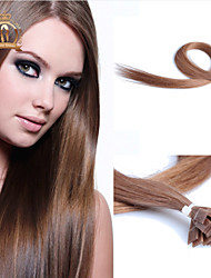 "22""inch Flat Tip Indian Virgin Hair Straight Human Hair Color #10"