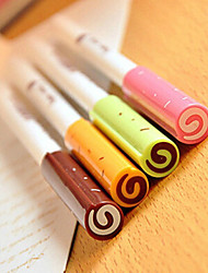 Jam Pattern Black Ink Gel Pen(Random Colors 1PCS)