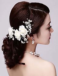 Women Rhinestone/Imitation Pearl Flowers With Imitation Pearl Wedding/Party Headpiece