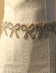 Tulle Wedding Sash With Rhinestone