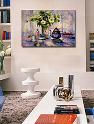 Oil Paintings One Panel Modern Still Life Flower Hand-painted Canvas Ready to Hang