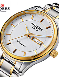 MOERS Men's Round Dial Casual Watch Alloy Strap Japanese Quartz Watch Wrist Watch (Assorted Colors) Cool Watch Unique Watch