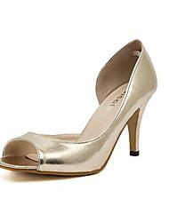 Women's Shoes Stiletto Heel Peep Toe/Open Toe Sandals Casual Silver/Gold