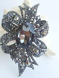 Women Accessories Wedding Gray Rhinestone Crystal Flower Bridal Brooch Wedding Deco Crystal Brooch Bouquet