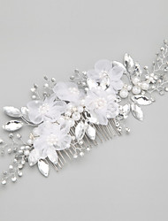 Women's/Flower Girl's Alloy/Imitation Pearl Headpiece - Wedding/Special Occasion Hair Combs 1 Piece