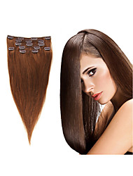 """1pc/lot 100g/pc Brazilian Human Hair Clip In Hair Extension18""""-30"""" Natual Hair Extensions All Colors In Stock"""