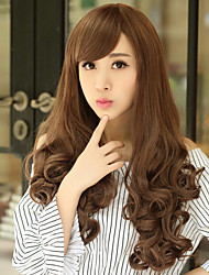 Wave Hair Wigs Brown Long Hair Wave Synthetic Hair Wigs