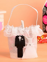 12 Piece/Set Favor Holder - Creative Nonwoven Fabric Favor Bags Bride and Groom