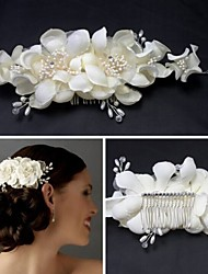 Women's White Lace Flower Hair Comb for Wedding