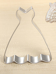 Fashion Lady's Tube Dress / Princess Wedding Dress Shape Cookie Cutters  Fruit Cut Molds Stainless Steel