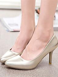 Zapatos de mujer - Tacón Stiletto - Puntiagudos - Tacones - Vestido - Semicuero - Plata / Oro