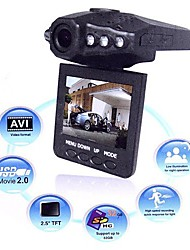 "F198B Car Recorder HD DVR 2.5"" Color TFT LCD 120 degree angle w/ 6 IR LED Night vision"