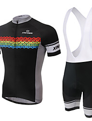 Bike/Cycling Bib Shorts / Jersey / Shorts / Jersey + Shorts Women's Short Sleeve Breathable / Wearable / 3D Pad / Back Pocket100%