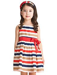 Children Kids Baby Girls Stripes Summer Style Sleeveless Dress Clothes