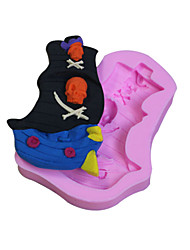 Bakeware Silicone Pirate Ship Fondant Mold Cake Decoration Mold