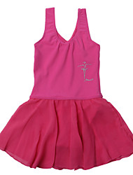 Ballet Dresses Children's Performance Chiffon / Chinlon Draped 1 Piece Black / Blue / Fuchsia / Pink / Purple / White