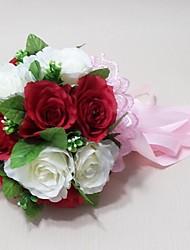 Buquês ( Vermelho/Branco , Cetim ) - de Rosas