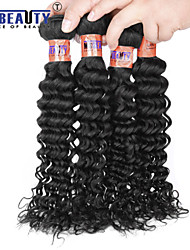 "4 Pcs /Lot 8""-28""8A Peruvian Virgin Hair Deep Wave Human Hair Wefts 100% Unprocessed Peruvian Remy Hair Weaves"