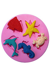 Baking Molds Sea World Fondant Mold Cake Decoration Mold