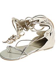 Women's Shoes Flat Heel Slingback/Gladiator Sandals Dress Silver/Gold