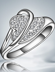 S925 Silver Plated Party Heart Design Ring