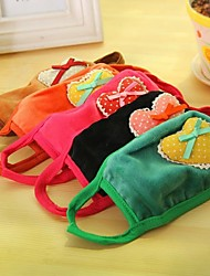Lovely Cotton Loving Heart Pattern Anti-Dust Winter Thermal Adult Respirator Face Masks Health Gauze Mask (Random Color)