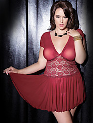 Good Quality 2015 New Arrival Plus size erotic underwear beautiful dark red sleepwear women fitness lingerie sexy