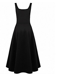 Women's Vintage Dress , Others White/Black Party