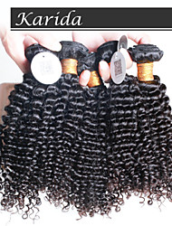 4 pcs/Lot Brazilian Kinky Curly Virgin Hair, Unprocessed Virgin Queen Brazilian Human Hair
