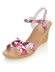 Women's Shoes Platform Comfort / Round Toe Sandals Wedding / Outdoor / Office & Career / Dress Blue / Yellow / Pink