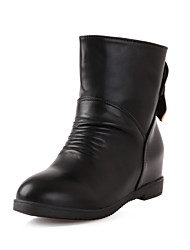 Women's Shoes Synthetic/Rubber Chunky Heel Fashion Boots/Bootie/Round Toe/Closed Toe BootsOutdoor/Office &