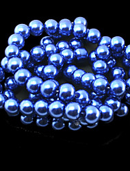 Beadia 2 Str(approx 180pcs) 10mm Round Glass Beads Dark Blue Color Imitation Pearl Beads DIY Spacer Loose Beads