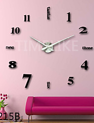3D Fashion Design Large Wall Clock Home Decor Diy Clock