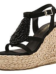 Women's Shoes Wedge Heel Wedges Sandals Outdoor/Dress Black