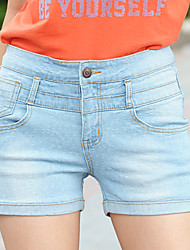 XBZ®Women's High Waist Casual Denim Short Pants
